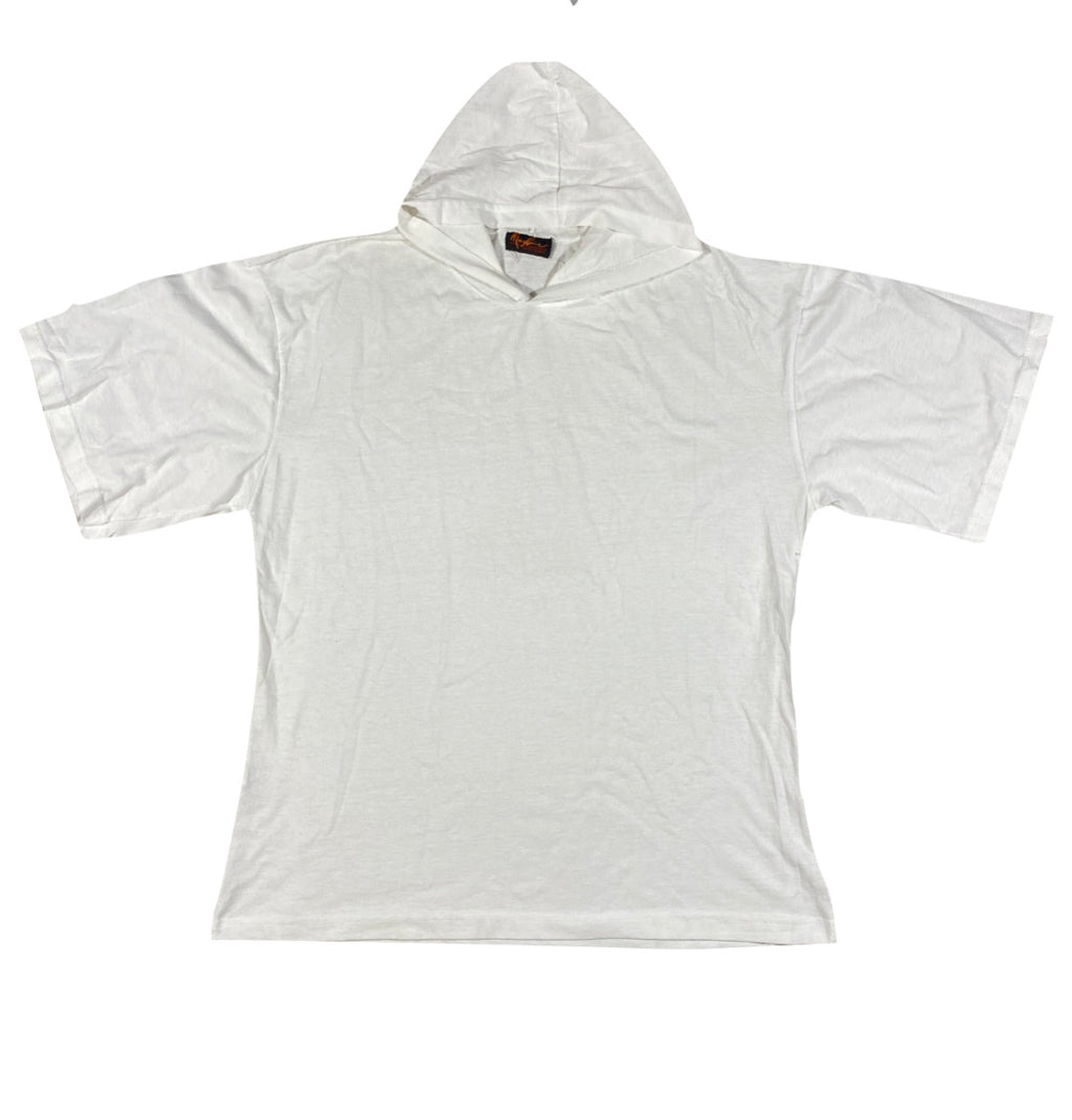 Hooded white tee. XL