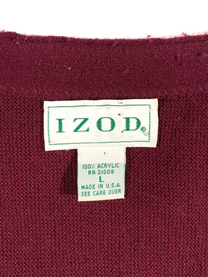 1990's IZOD cardigan. Made in USA. L.