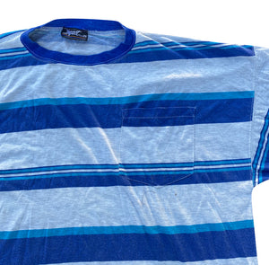 90s Striped pocket tee. XXL