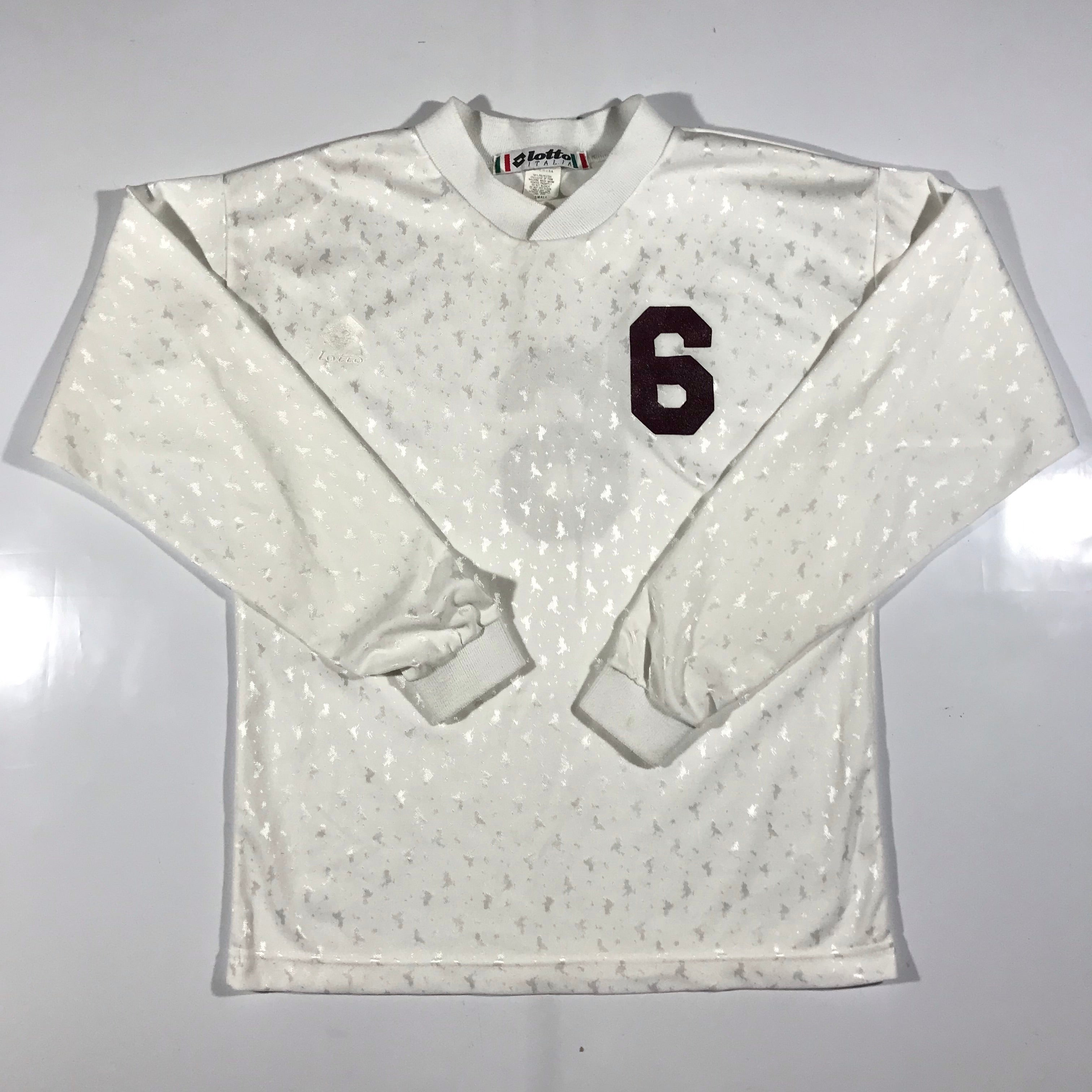 LOTTO italia white sparkle jersey made in usa small