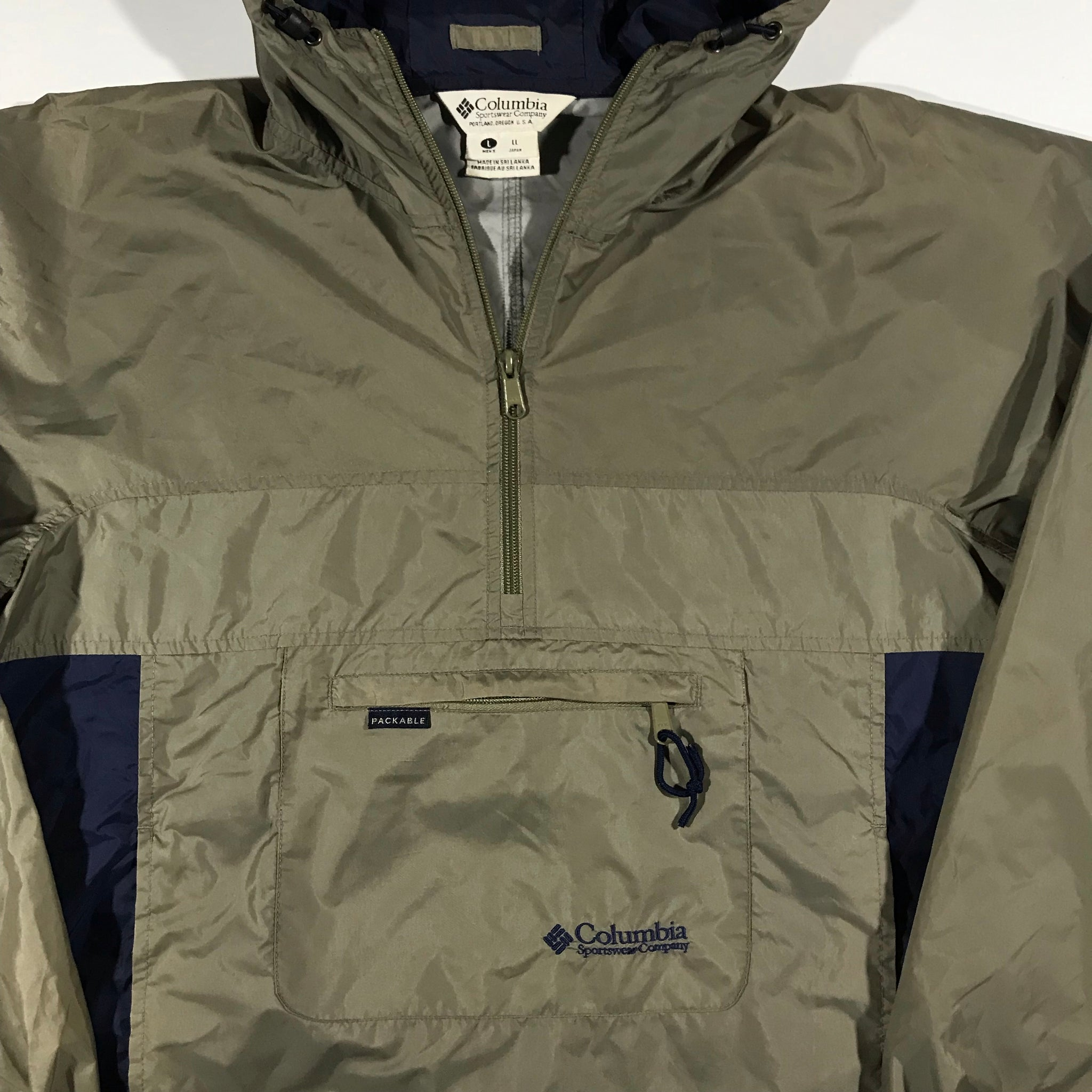 90s Columbia pullover jacket. large