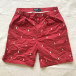 Polo all over embroidered shorts. sz 32