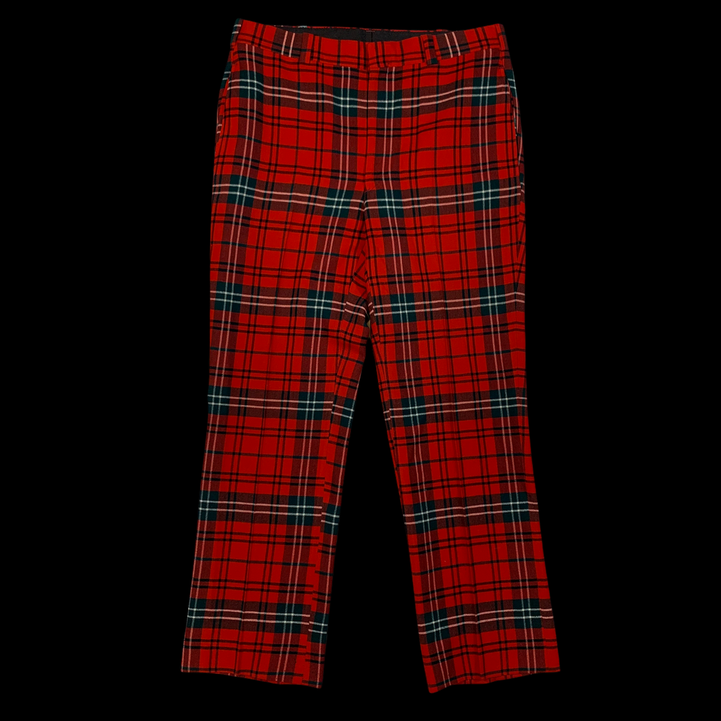 1970's plaid slacks. Made in USA. 35x29.