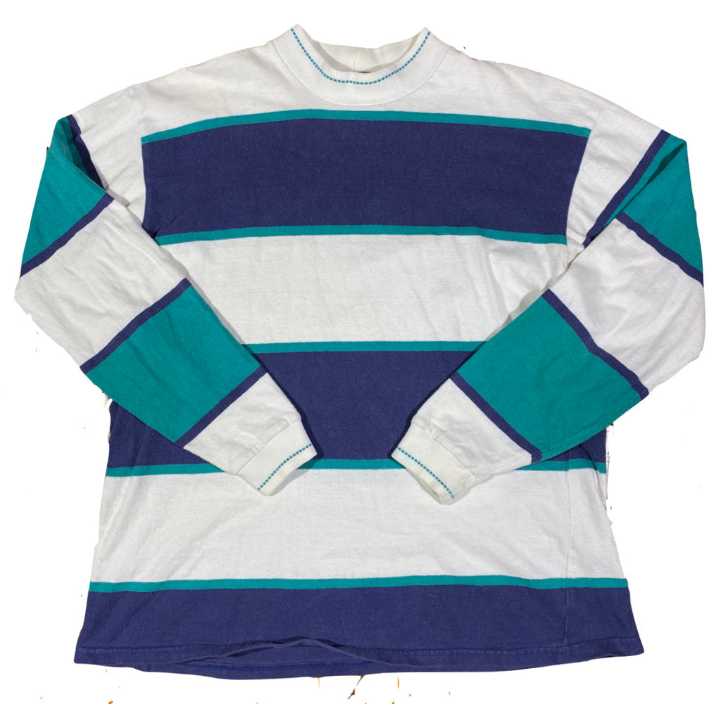 Columbia knit rugby style mock neck XL