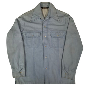 1970's western denim shirt. M/L.