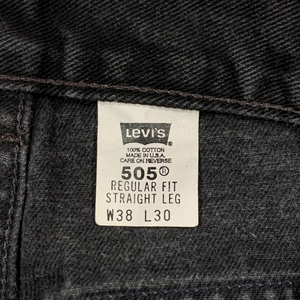 1990's Levi's 505. Made in USA. 36x29.