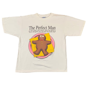 "1990's ""The Perfect Man"" tee. XL."