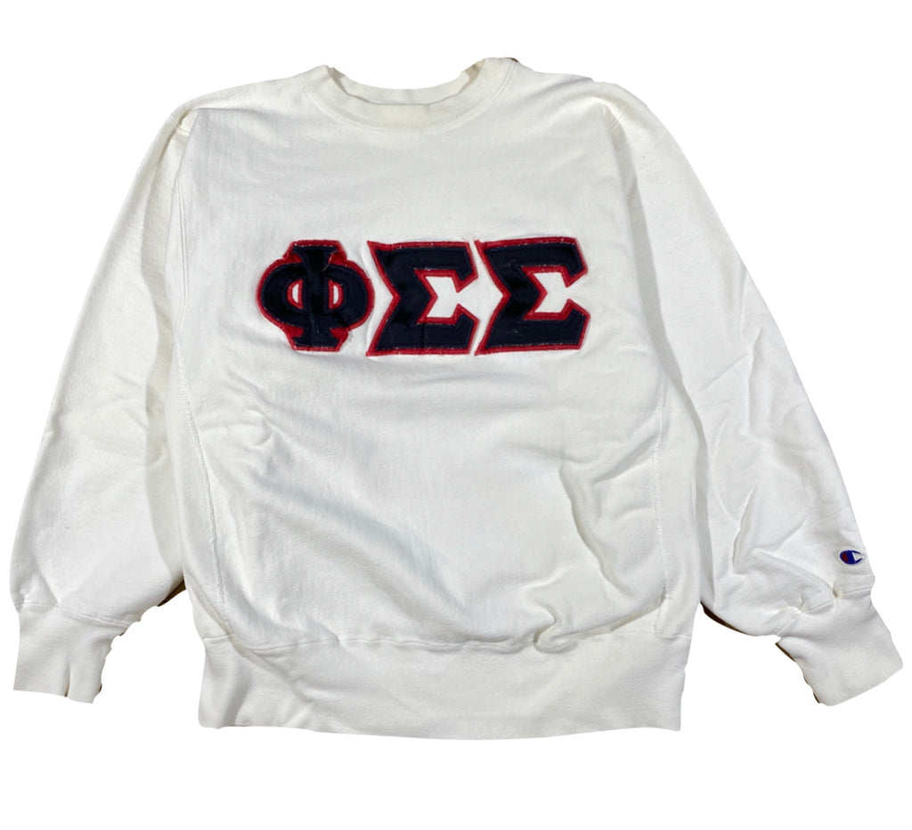 80s Phi sigma sigma sorority champion reverse weave large