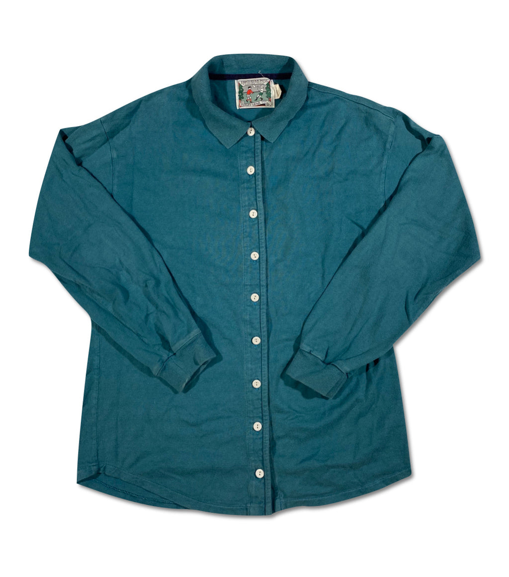 Thatcher and cross button down rugby shirt. M/L