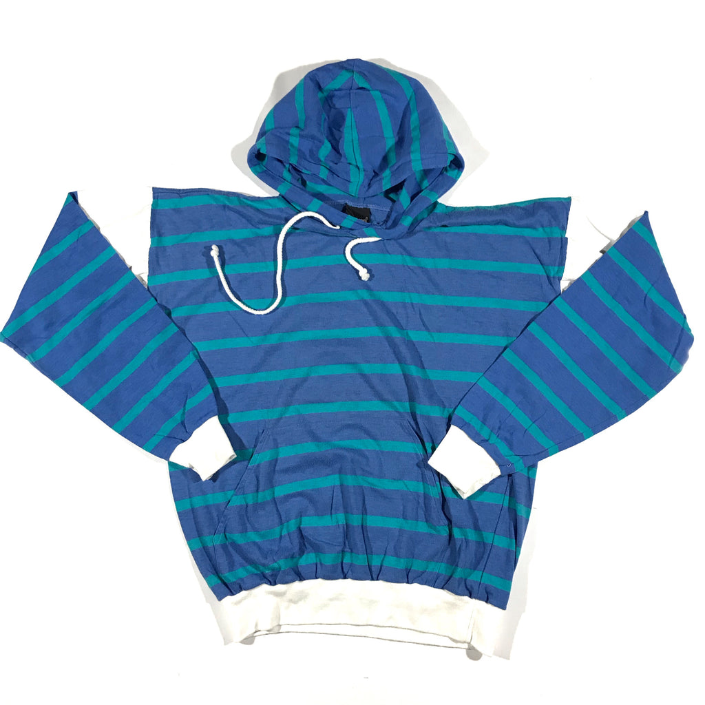 90s Jantzen striped hoodie. thin. medium