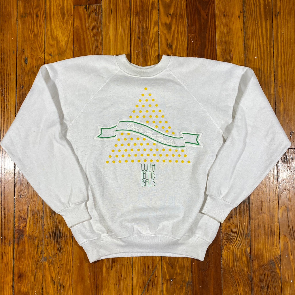 80s Deck the halls with tennis balls sweatshirt. medium fit