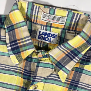 80s Landsend button up shirt. medium