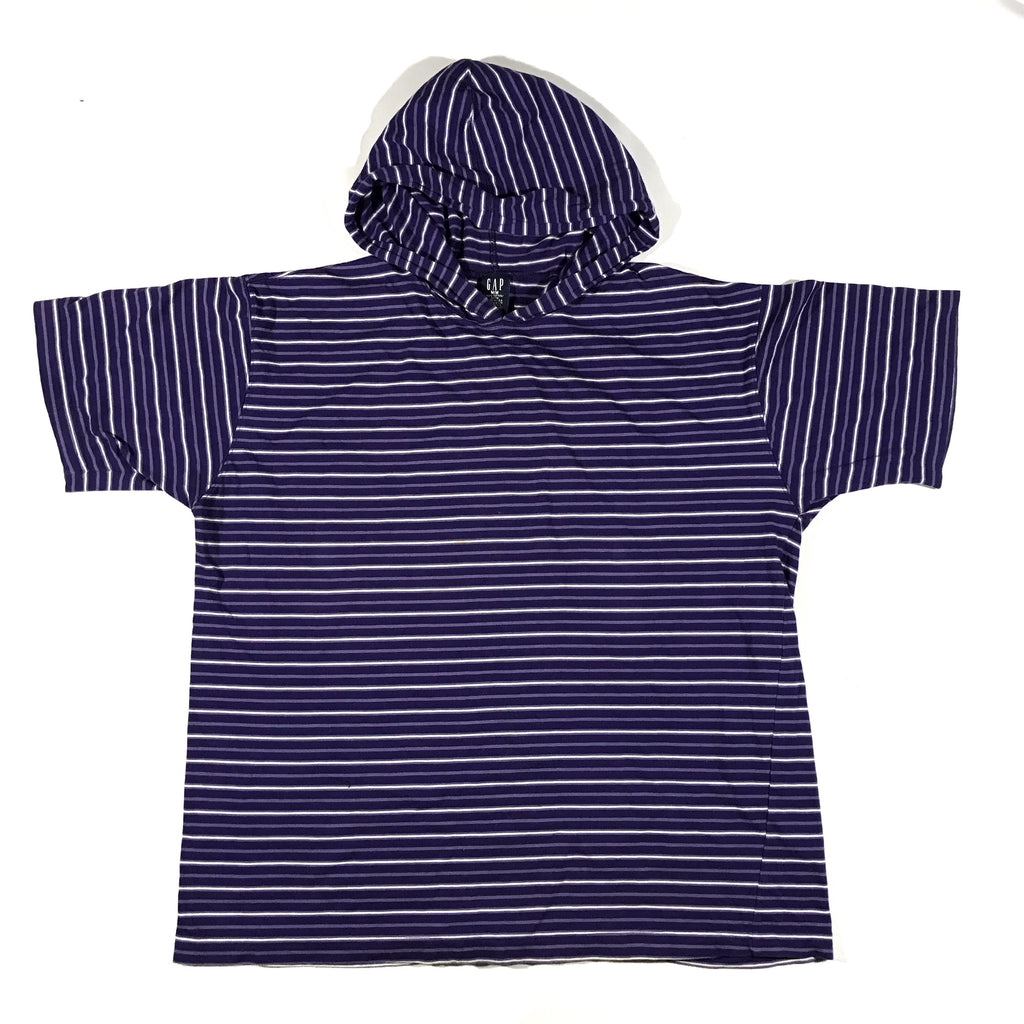 Gap striped hooded tee. made in usa. medium