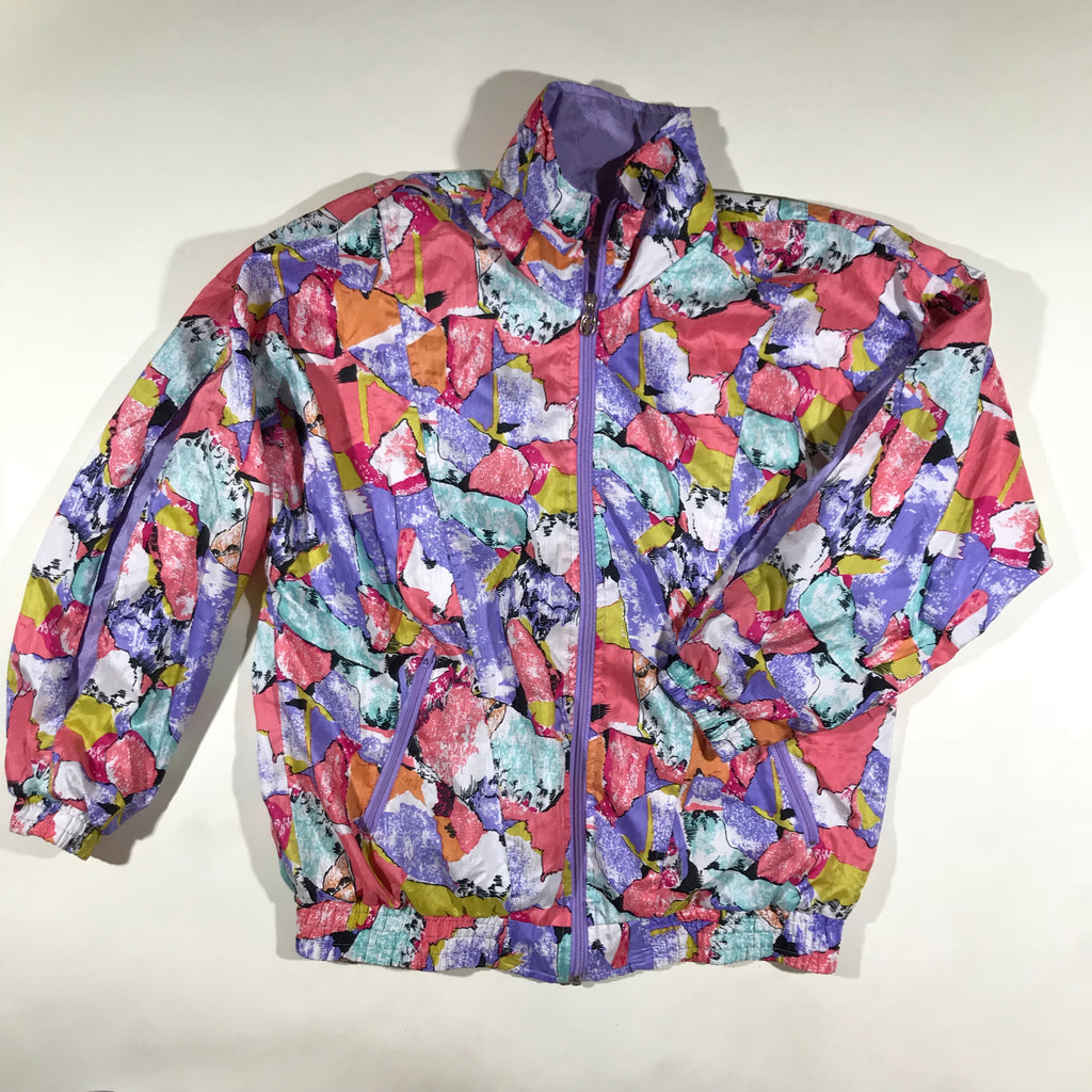 Colorful windbreaker. ladies s/m fit.