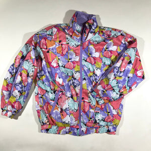 Colorful windbreaker jacket. ladies small/medium fit.