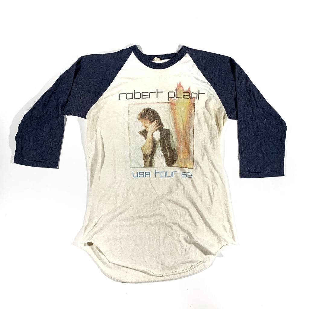 1983 Robert Plant tour baseball tee. Made in USA. tagged L, fits M/L.