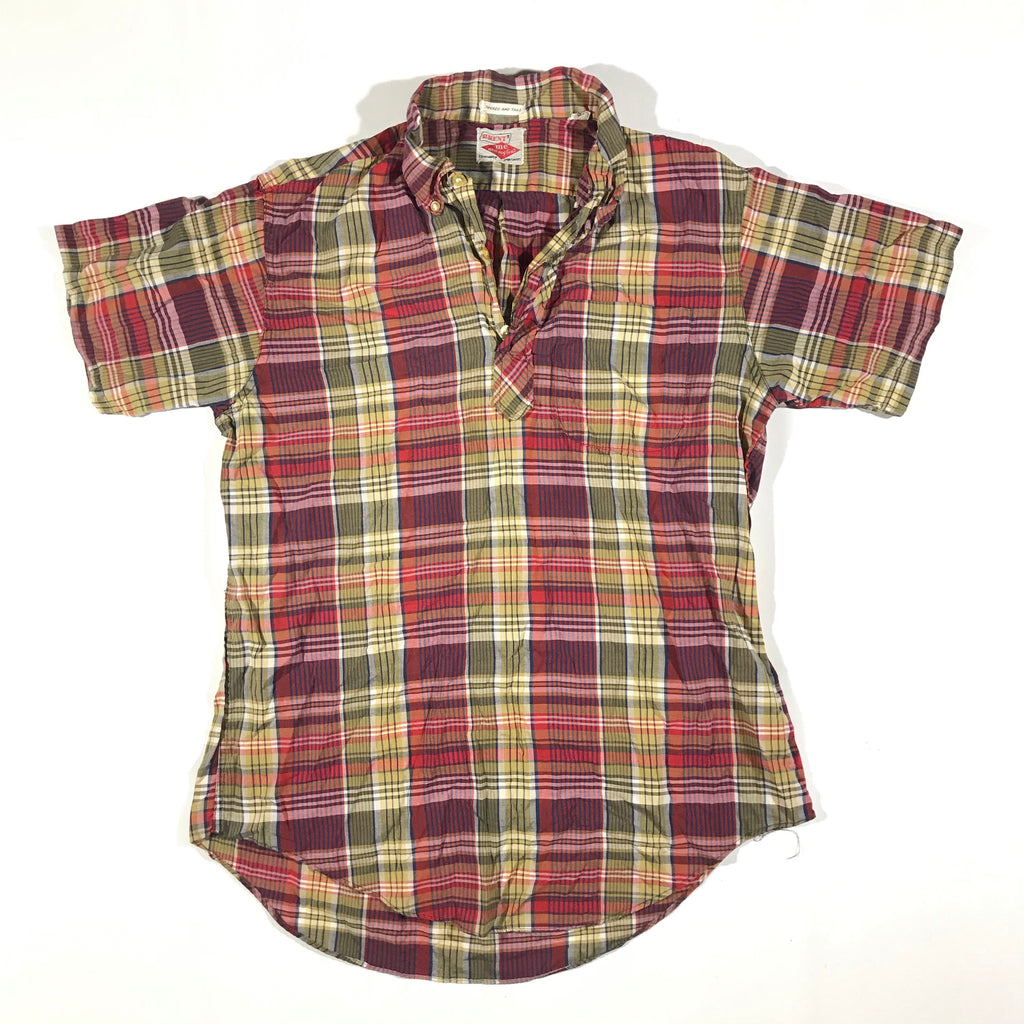 70/80s Plaid polo shirt. medium