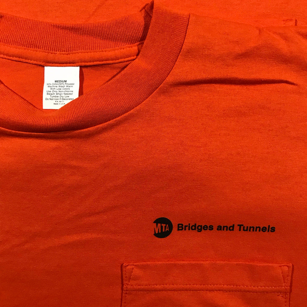90s MTA Bridges and tunnels pocket tee  made in usa medium
