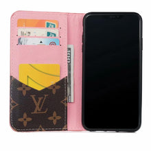Louis Vuitton Leather Wallet Phone Case For iPhone XR