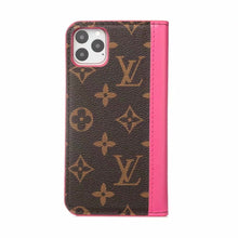 Louis Vuitton Leather Wallet Phone Case For iPhone 12 Pro