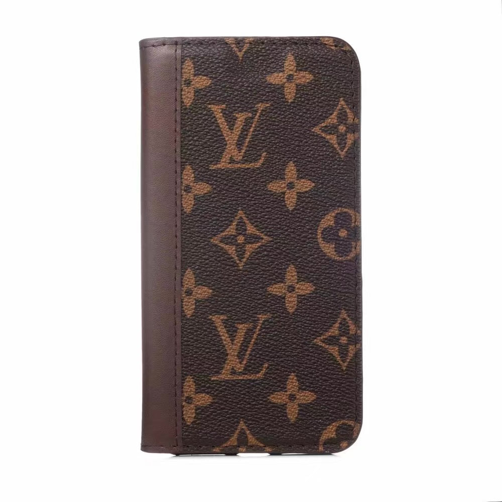 Louis Vuitton Leather Wallet Phone Case For iPhone 12