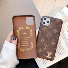 Louis Vuitton Leather Phone Case For iPhone 12 Pro