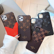Louis Vuitton Leather Phone Case For iPhone X