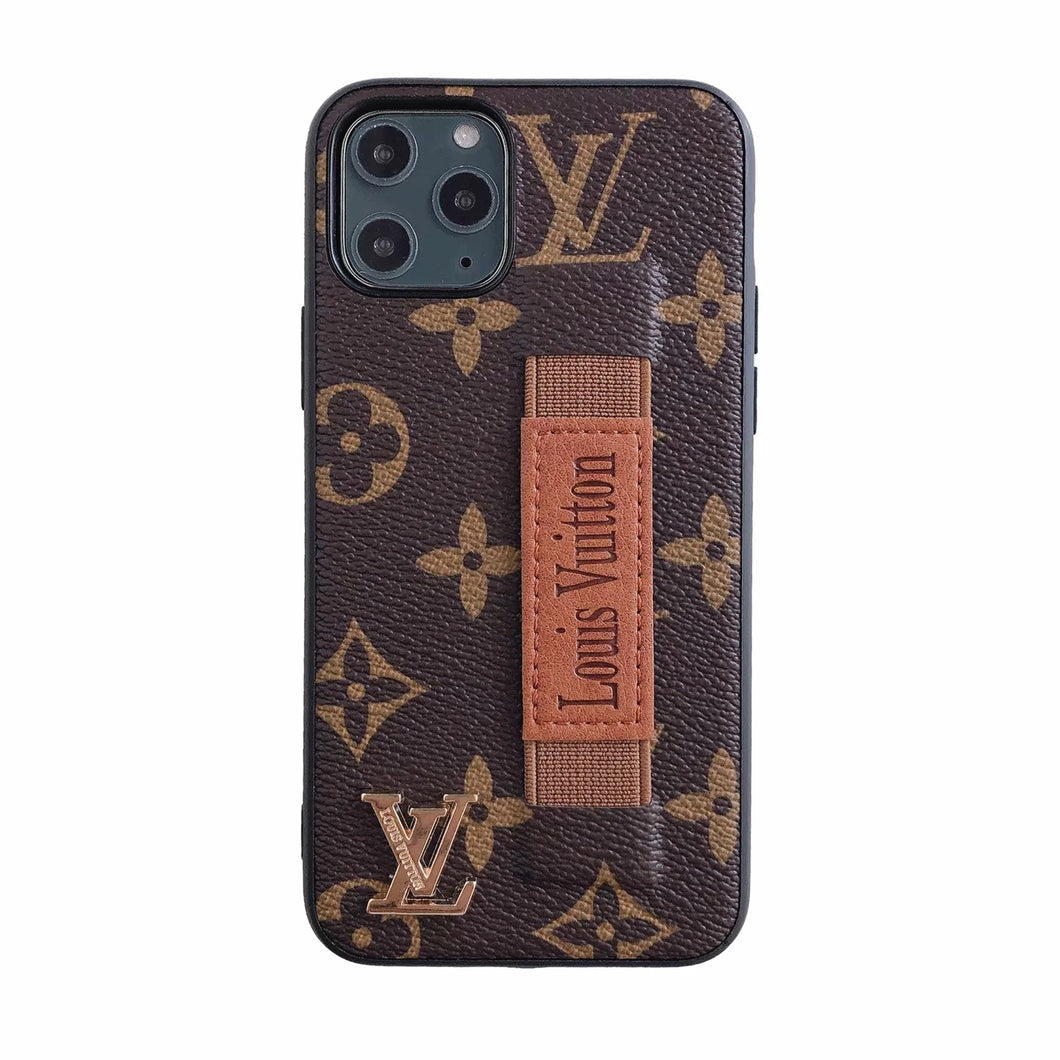Louis Vuitton Leather Phone Case For iPhone 11 Pro