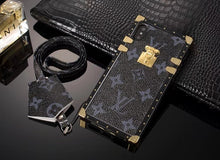 Louis Vuitton Leather Eye Trunk Phone Case For iPhone 7/8