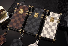 Louis Vuitton Leather Trunk Phone Case For iPhone XS