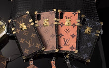 Louis Vuitton Leather Trunk Phone Case For iPhone 11