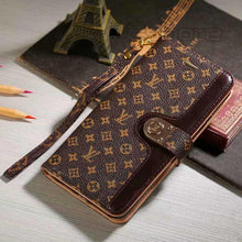 Louis Vuitton Leder Brieftasche Handyhülle für Galaxy Note 8