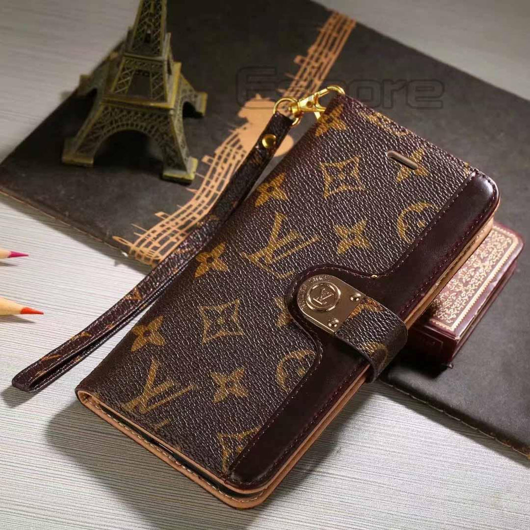 Louis Vuitton Leather Wallet Phone Case For Galaxy S9 50% Off – Phone Swag