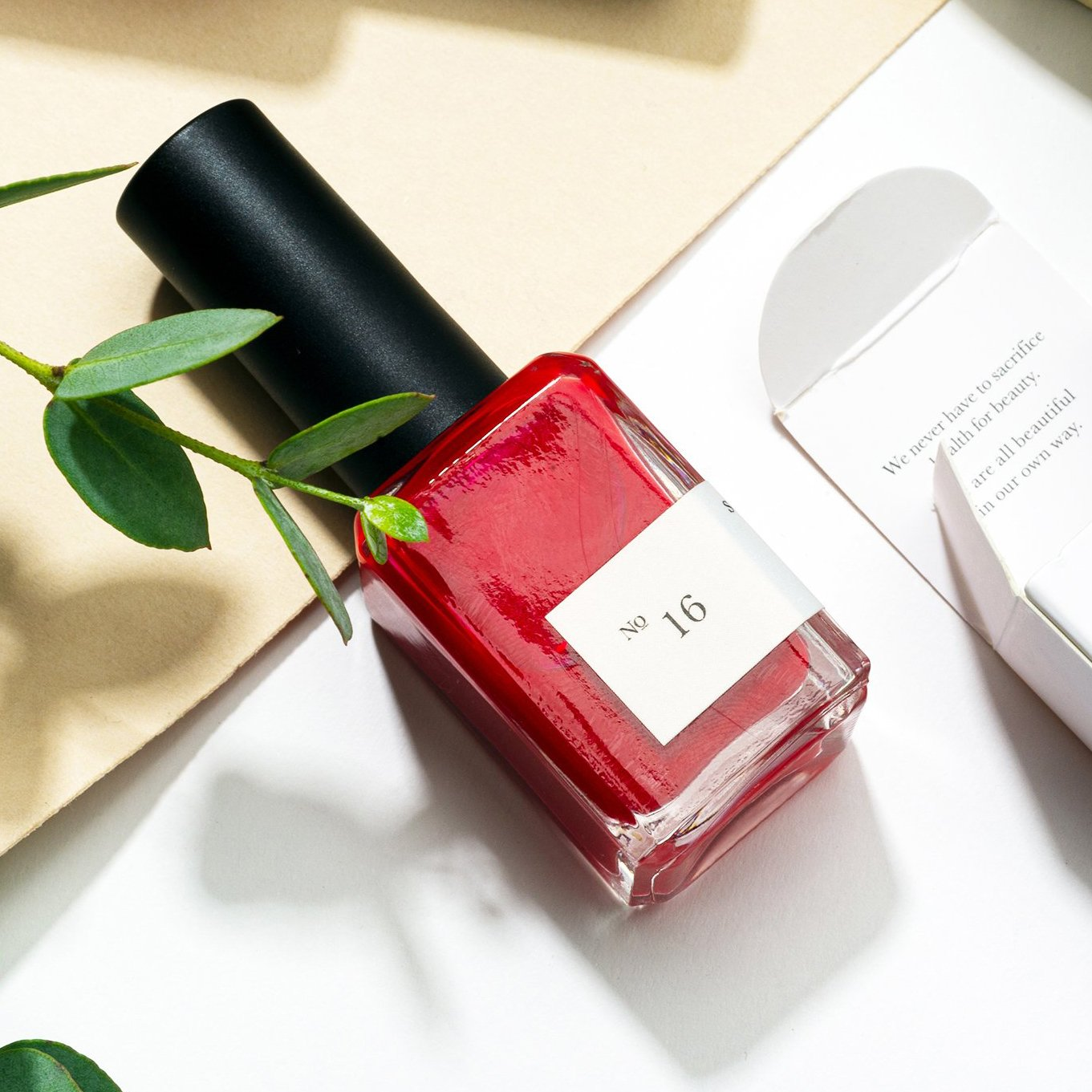 Elate Ethical Marketplace Sundays red Nailpolish n.16 - holiday christmas gift giving as a stocking stuffer. Cruelty free, toxin free and sustainable.
