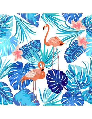 FLAMINGO BLUES CRISS-CROSS SUIT
