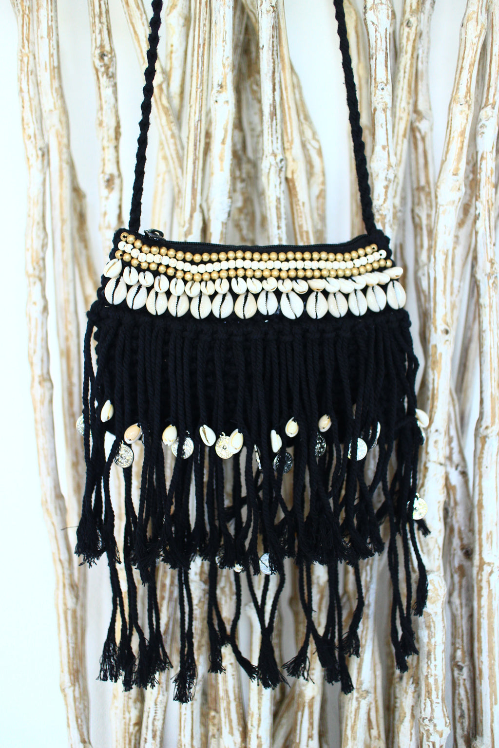 MERMAID WAVES FRINGE BAG