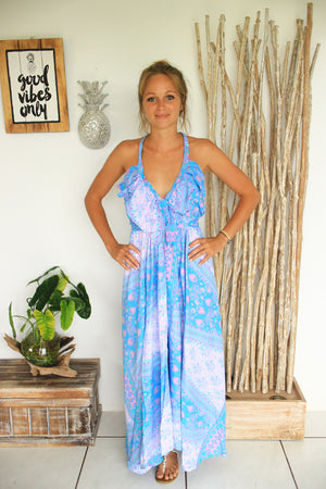 MERMAID MAXI FRILL DRESS