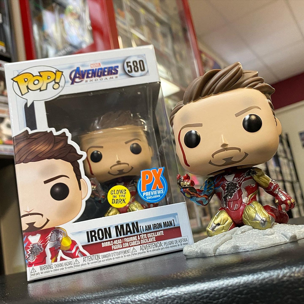 POP! Marvel - Avengers Endgame - Iron Man (I Am Iron Man) Glows In The Dark - PX Exclusive