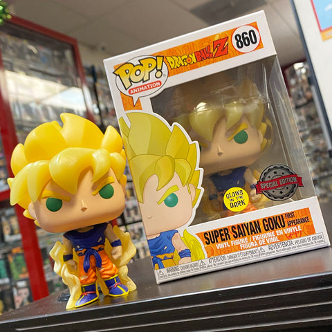 POP! Dragon Ball Z - Super Saiyan Goku First Appearance Glows In The Dark Special Edition / Go Calendar Exclusive