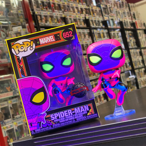 POP! Marvel - Spider-Man Black Light Exclusive Special Edition