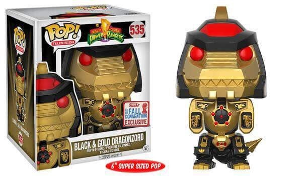 Funko POP Mighty Morphing Power Rangers Dragonzord Black and Gold - NYCC Fall Convention Exclusive