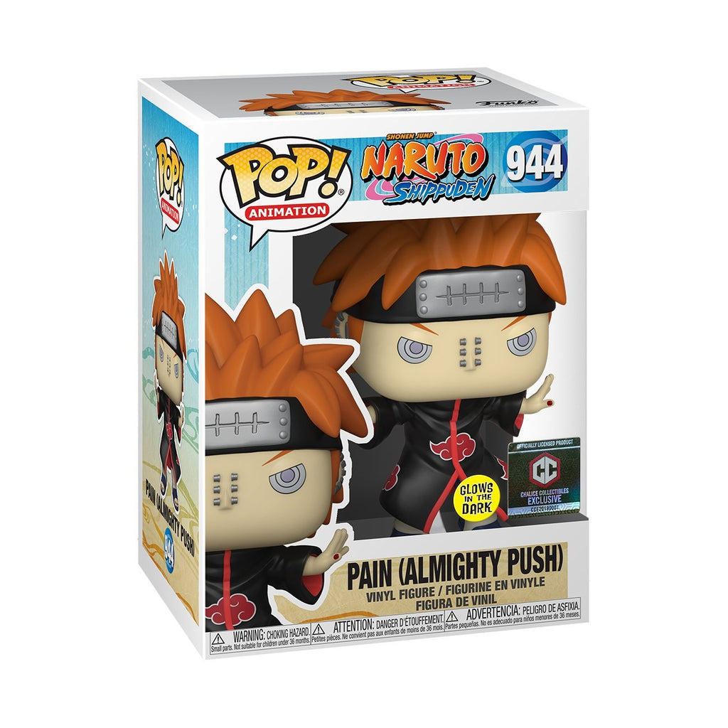 POP! Naruto Shippuden - Pain All Mighty Push Glows In The Dark - Chalice Collectible Exclusive