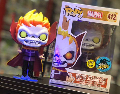 POP! Marvel - Doctor Strange Ghost Rider Glows In The Dark - Comikaze LACC Exclusive