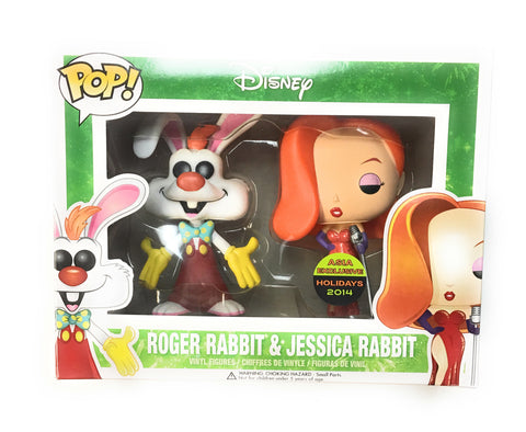 POP! Disney - Roger Rabbit & Jessica Rabbit 2 Pack - Vaulted / 2014 Asia Exclusive