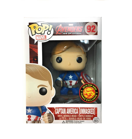 POP! Marvel - Avengers - Captain America Unmasked - 2015 Convention Exclusive