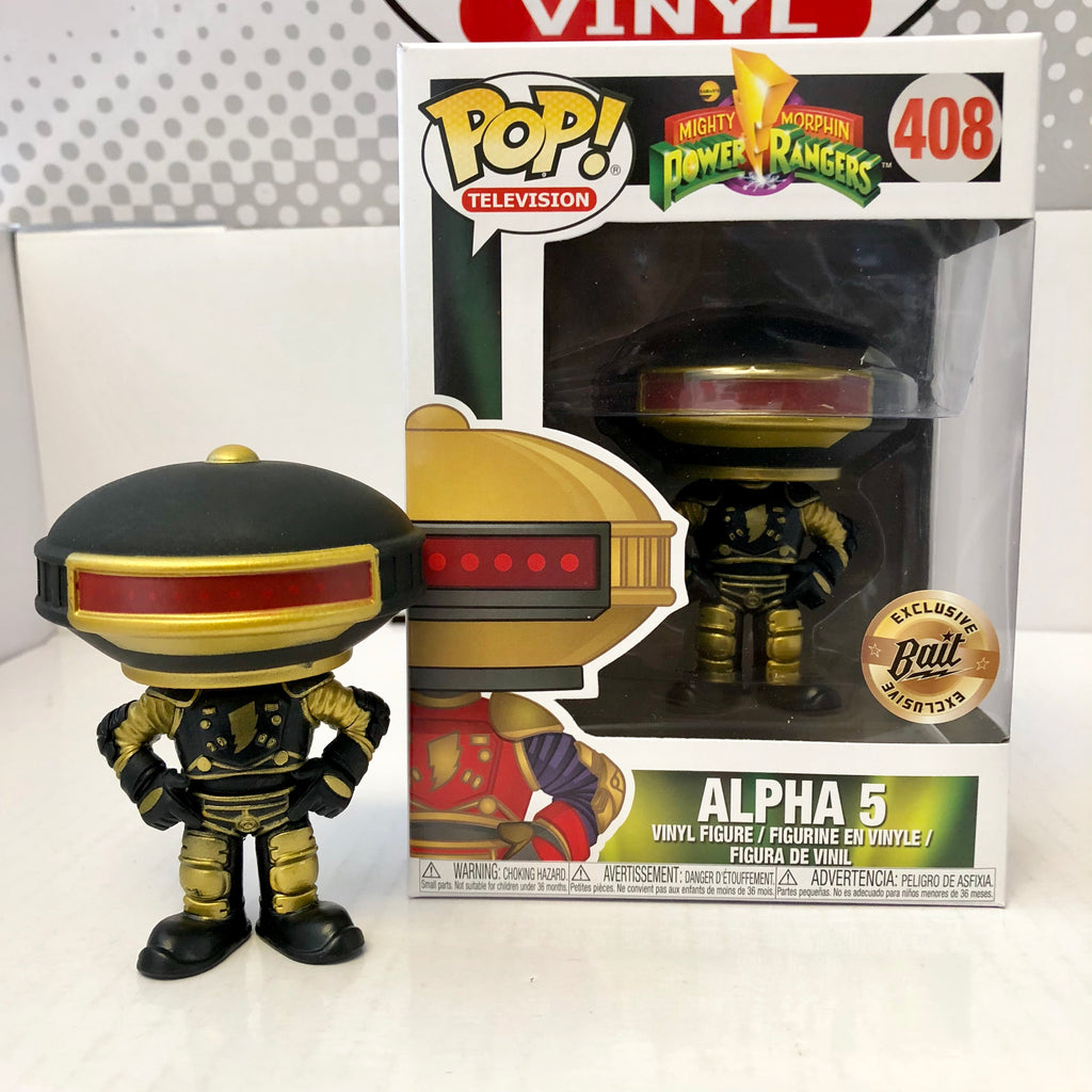 POP! Mighty Morphing Power Rangers Alpha 5 Black & Gold - BAIT SDCC Exclusive
