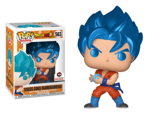 POP! Dragon Ball Super - SSGSS Goku Kamehameha Metallic - Chalice Collectibles Exclusive