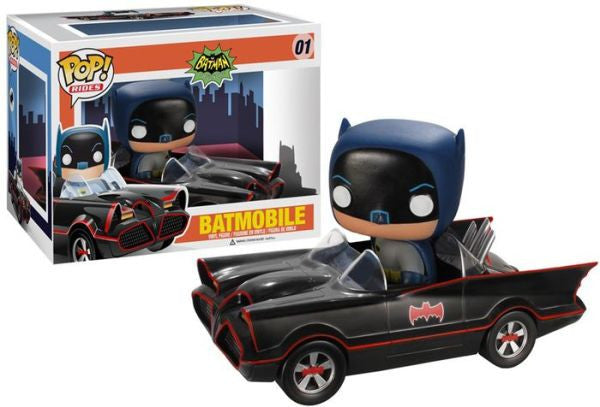POP! Rides - DC Batman Classic TV Series - 1966 Batmobile Adam West - Vaulted / Discontinued