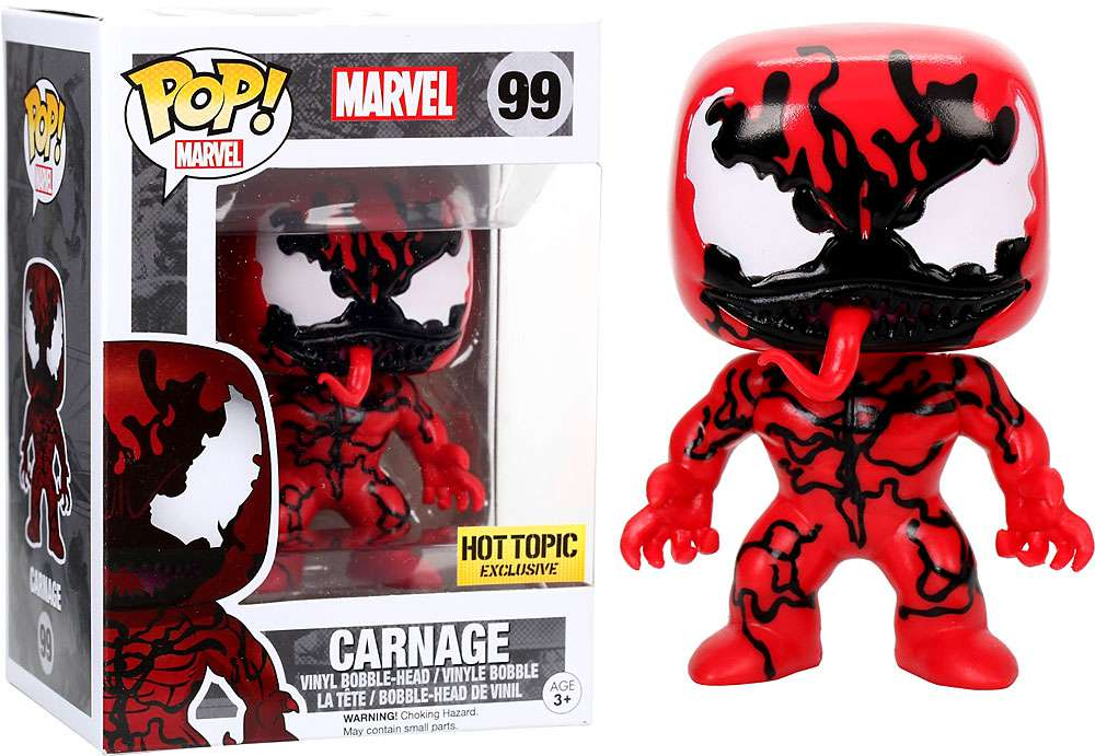 Funko Pop Marvel Spider Man Carnage Hot Topic Exclusive