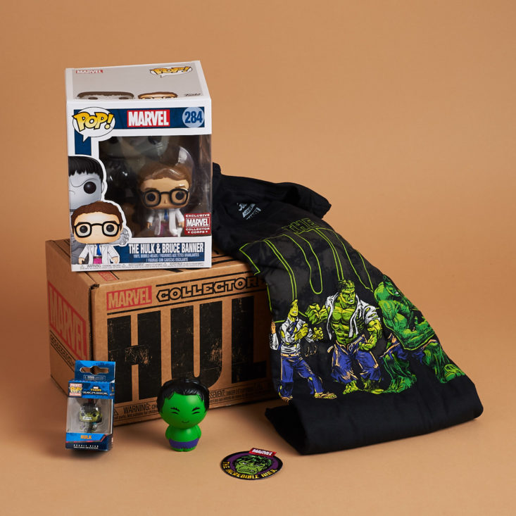 Marvel Collector Corps - The Hulk - Full Subscription Box
